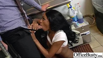 intercorse hook-up act with humungous-chested insatiable office lovely.