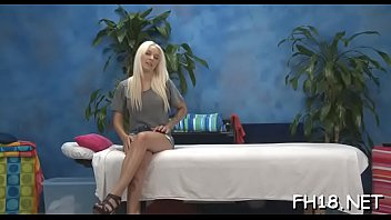 Sexy 18 year old beauty gets fucked hard from behind by her massage therapist