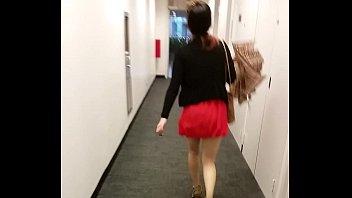 torrid chinese in a mini micro-skirt.