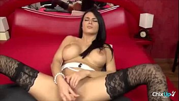 MYHOTPORNCAMS.COM - Big tits latina girl masturbates on her bed mp4