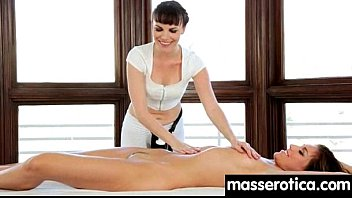 sensuous girly-girl rubdown leads to ejaculation.