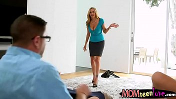 beauty teenie and good-sized-chested cougar astounding 3way romp.