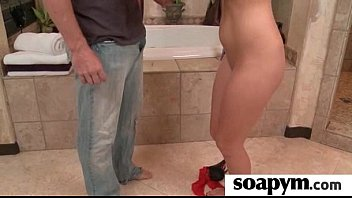 sisters buddy gives him a soapy.