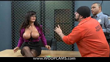 lisa ann pounded by a trio naughty prisoners.