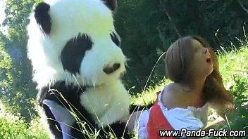panda plaything and teenage faux facial.