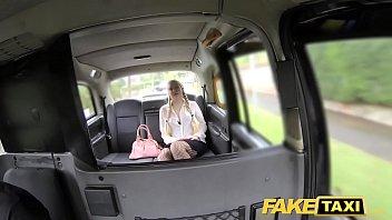 faux cab ash-blonde enjoys senior boys in backseat.
