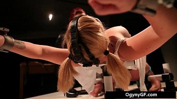Horny blond sexy adicted to bondage