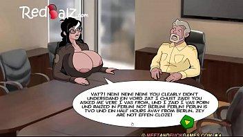 humungous-boobed cougar dialogue for job
