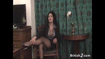 Thick British Woman Strips And Masturbates