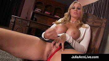 stepmother julia ann displays stepson how to wank.