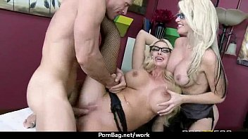 enormous boobed honey helps her ceo get off.