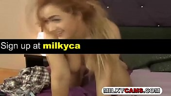 uber-cute camgirl frigs her twat on webcam --.
