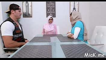 Lewd arab bitches gladly take part in a breathtaking threesome