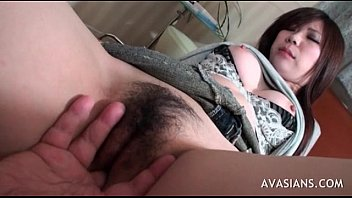 Asian Slut Enjoys Hairy Pussy Fingering