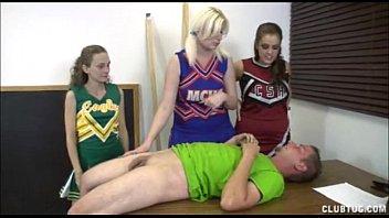 cheerleaders triple hand job
