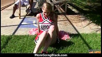 White horny mom in interracial hard sex 3