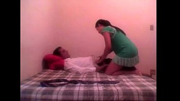 school dame at hostel guest room.