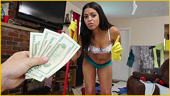 BANGBROS - Sexy, Young Latina Maid Cleans Up A Crazy Client'_s House