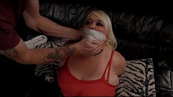trussed and ball-gagged in leopard print.