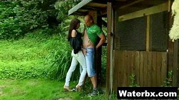 cute donk fetish gal mischievous urinating