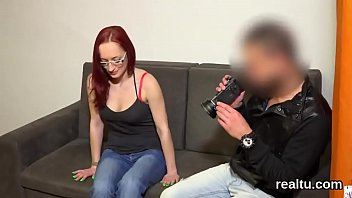 fetching czech damsel gets enticed in the mall.