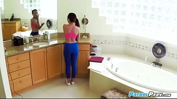 spyfilm of jamie marleigh in yoga.