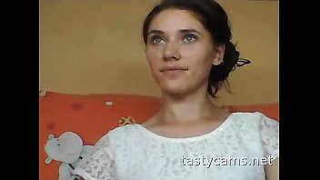 Hot russian girl shows off body on webcam