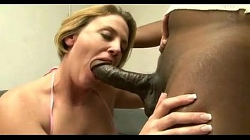 round cougar gets meaty ebony shaft
