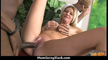 Mature MILF takes on big black cock 20
