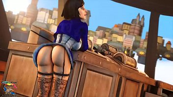 elizabeth bouncing her butt