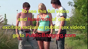 extreme public teenage bang-out threeway in the middle.
