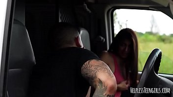 latina michelle martinez nailed in car