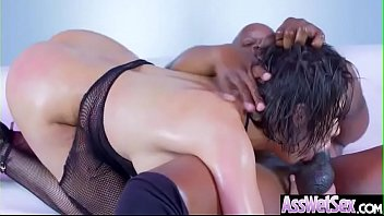 (Aleksa Nicole) Slut Big Ass Girl Get Oiled And Nailed Deep In Her Behind vid-02