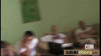 Ebony babe in group sex hardcore action 2