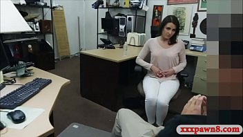 Perky tits brunette woman screwed by nasty pawn keeper