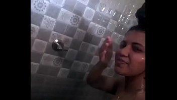 Indian taking selfie video in bathroom nude