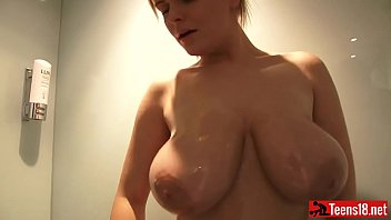 killer blondie hotty with large boobies takes a.