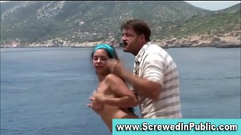 outdoor exhibitionist duo penetrating