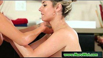 Asian Babe Gives Nuru Massage On Air Matress 21