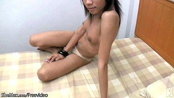 pansy she-masculine undresses off ebony sundress and jerks ravage-stick