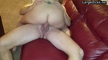 Aimazing wife takes 10 inch cock by her lover in front of hubby