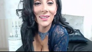 raven haired cougar taunting in cool.