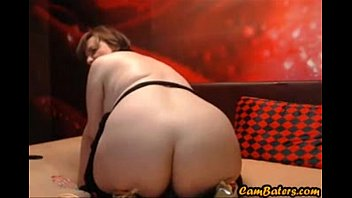 Sexy MILF rides dildo with her fat ass