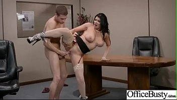 (Romi Rain) Gorgeous Girl With Big Round Tits Nailed In Office movie-26