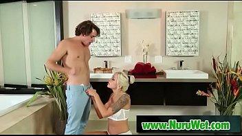 Nuru massage - Hot masseuse gives big pleasure 14