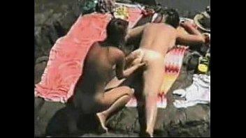Amateur lesbian public beach