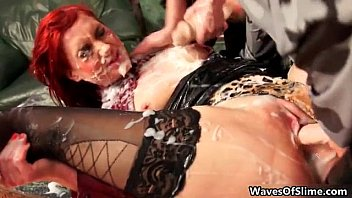 nasty red-haired honey getting her cunny