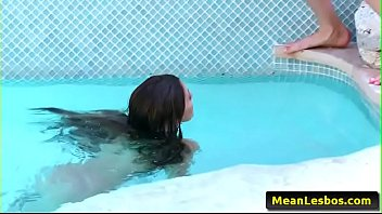 Hot and Mean Lesbian - Eating Pussy By The Pool with Ariana Marie &amp_ Whitney Westgate 02
