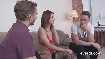 skimpy guy lets crazy buddy to plow his.
