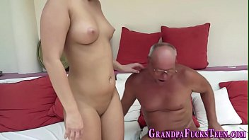blond drilled by granddad